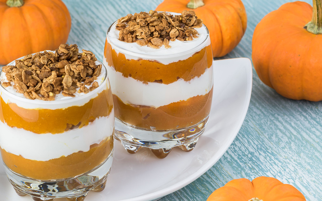 Pumpkin Pie Yogurt Parfaits