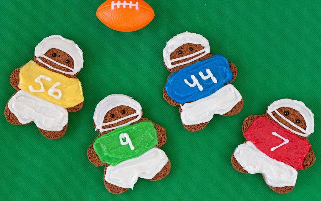 Football Gingerbread Men